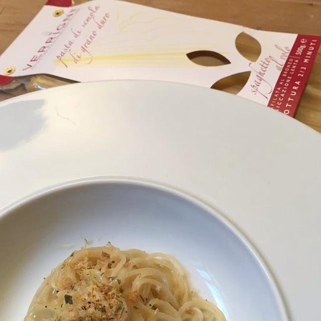 Spaghetto al volo risottato alla colatura di alici