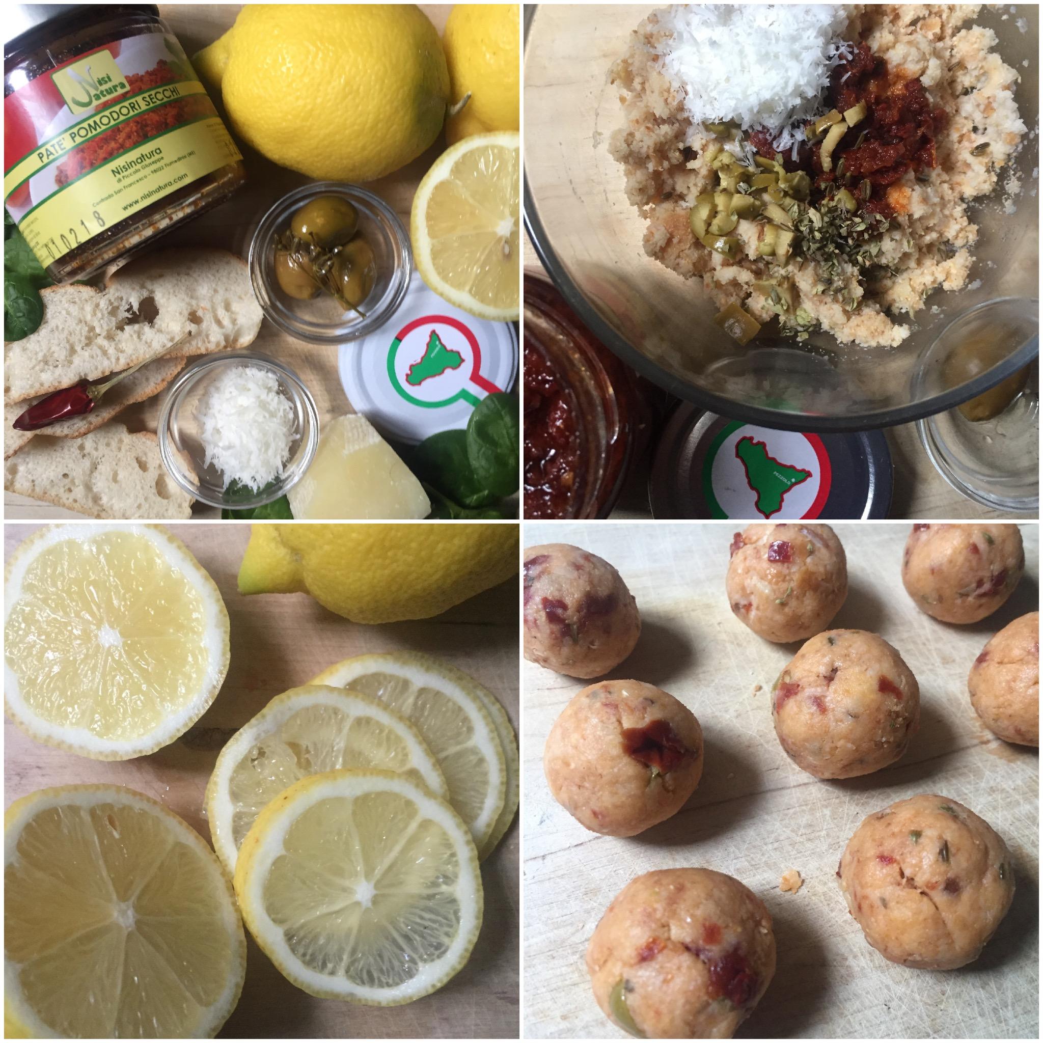 nsalata di limoni con polpette di pane cunzato