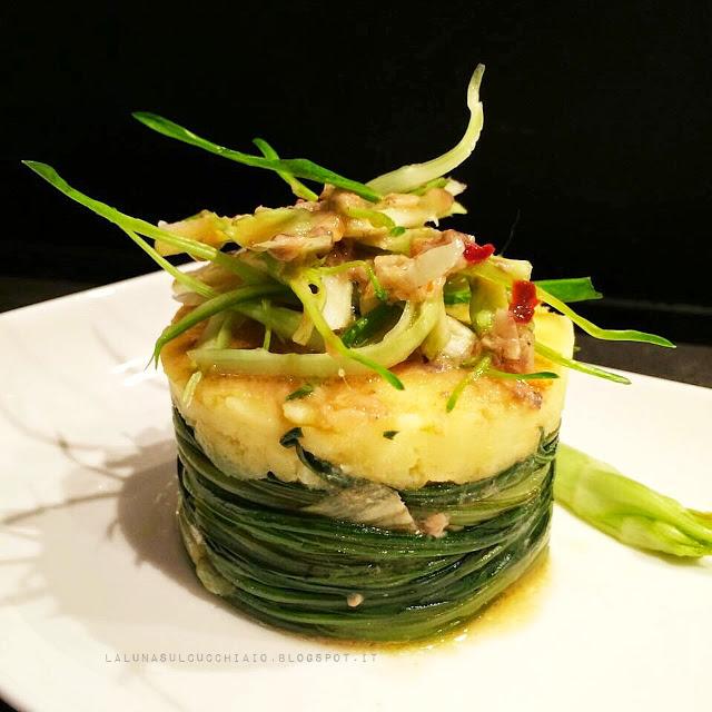 Puntarelle e patate in tortino