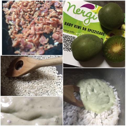 Risotto mantecato con robiola, Nergi® e briciole di prosciutto crudo