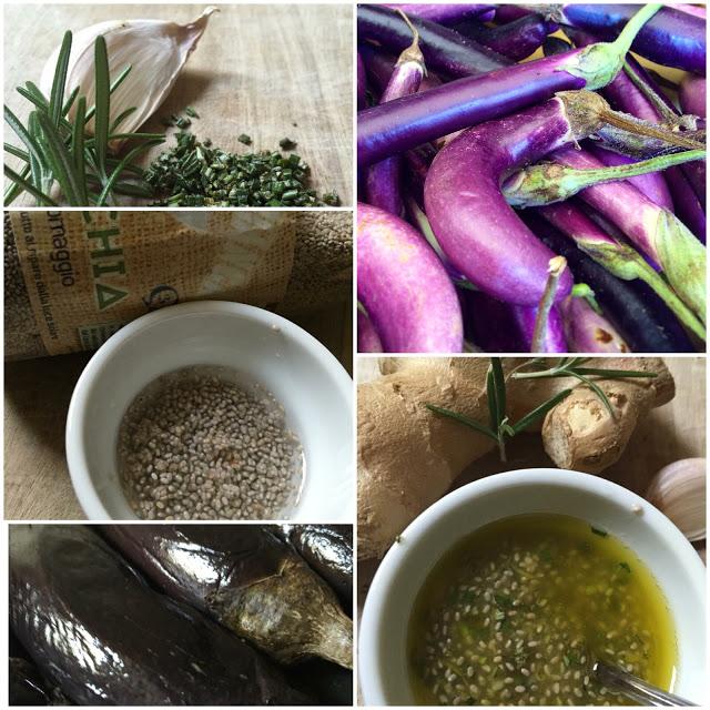 Melanzane perline con salsa ai semi di chia