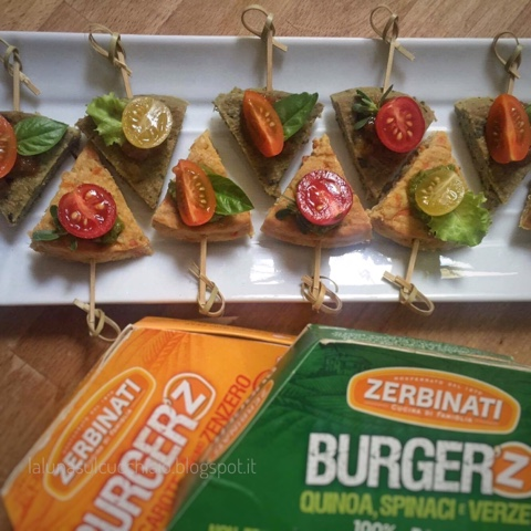 Hamburger vegetariani finger food