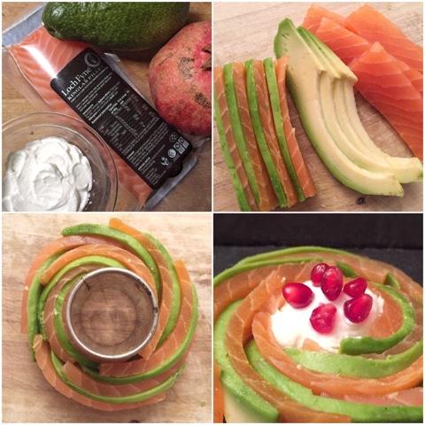 Salmone con avocado e jogurt
