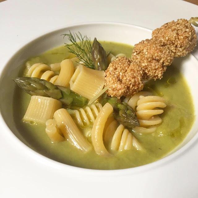 Zuppa di pasta mista e asparagi con spiedini di trota le for Aprire le planimetrie con seminterrato