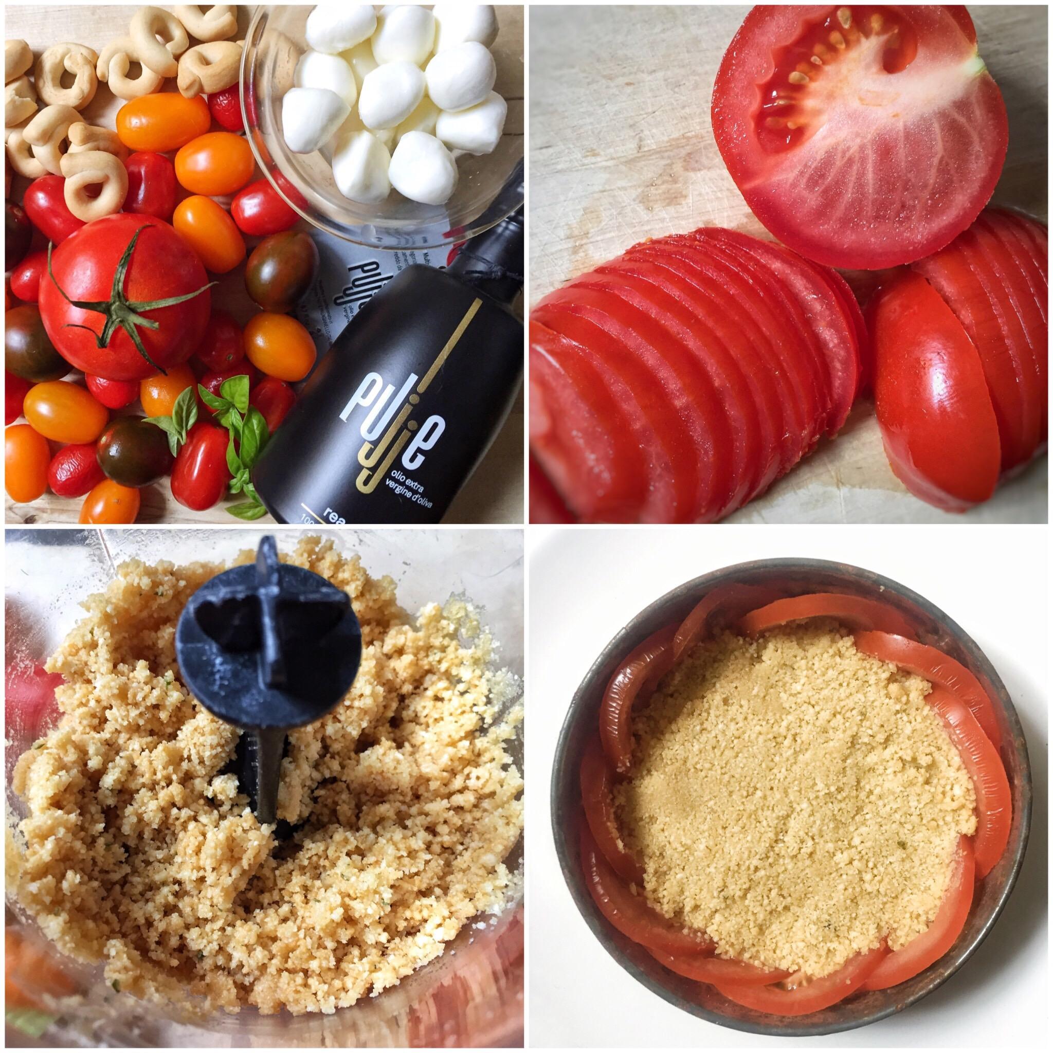 Finta cheesecake di pomodori e mozzarella