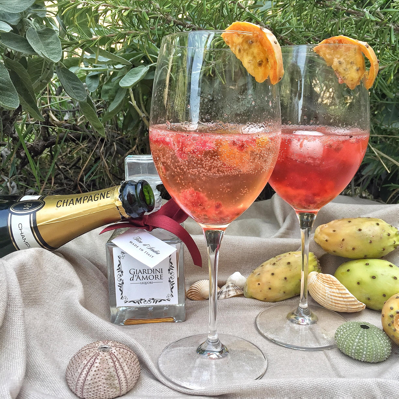 Cocktail champagne al profumo di Sicilia