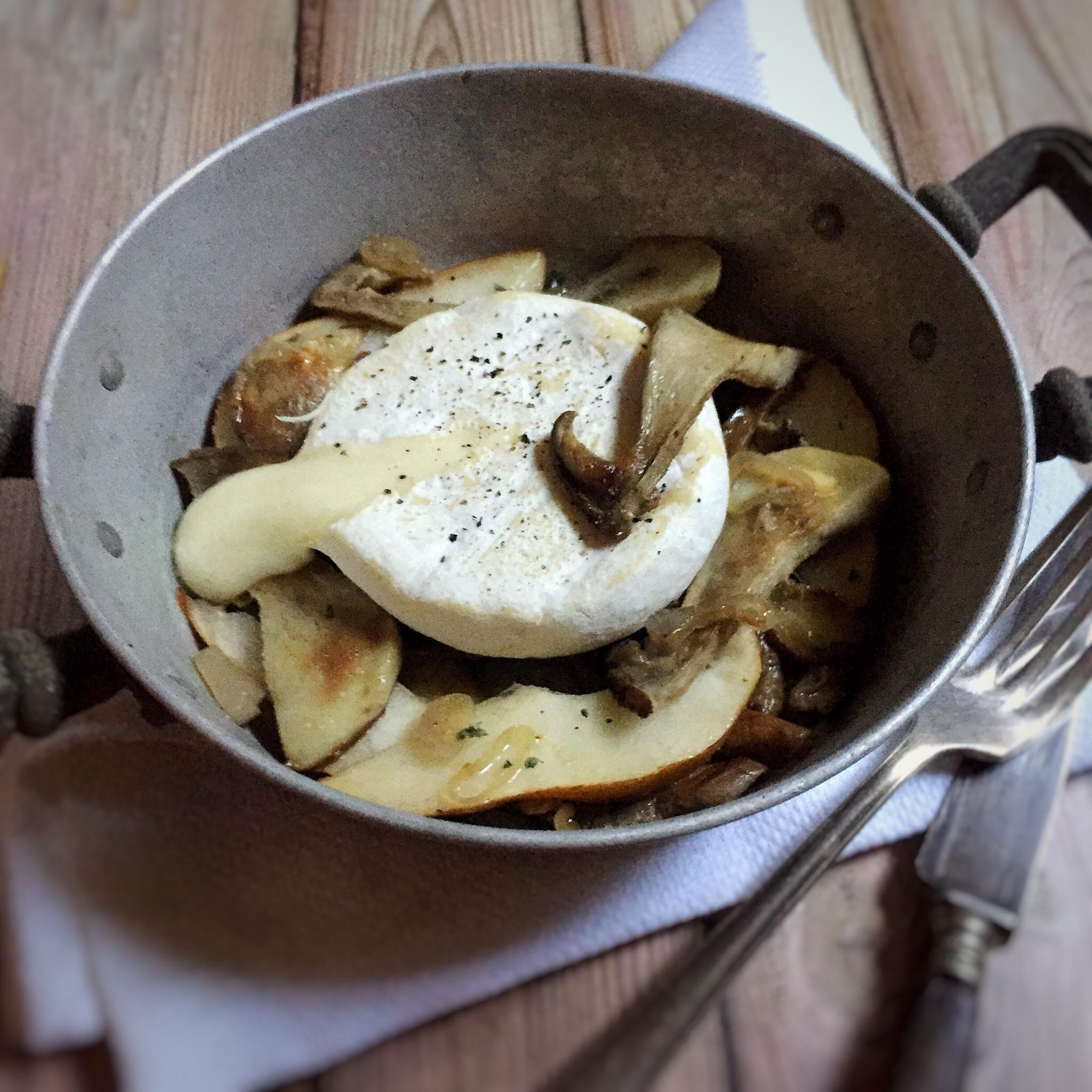 Tomini al forno con funghi porcini e pere