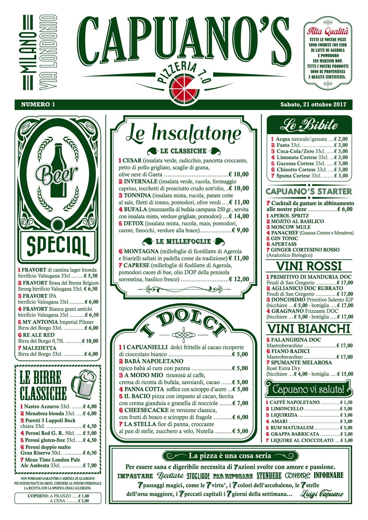 Pizza napoletana classica e fritti golosi da Capuano's a Milano