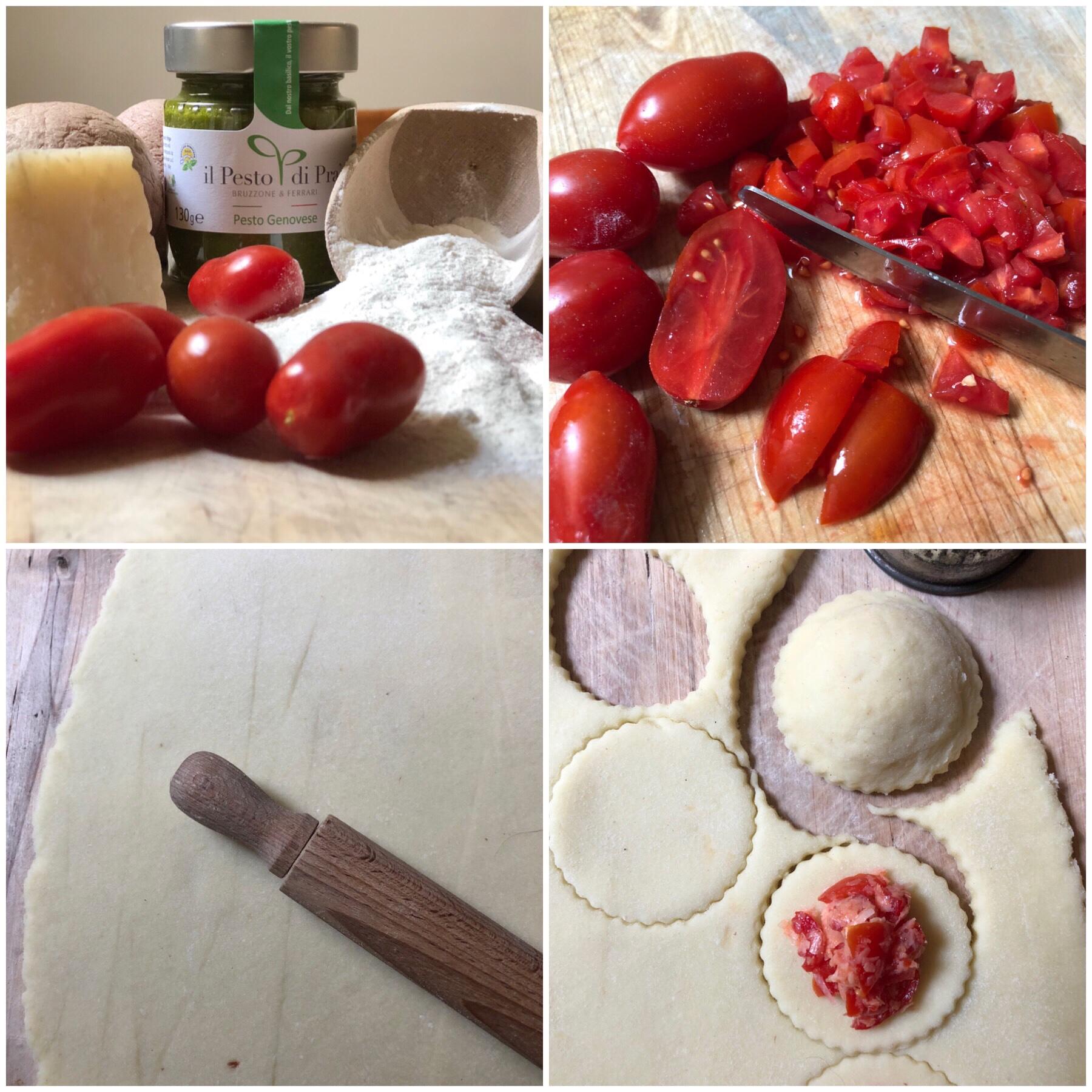Gnocchi ripieni di pomodoro al pesto