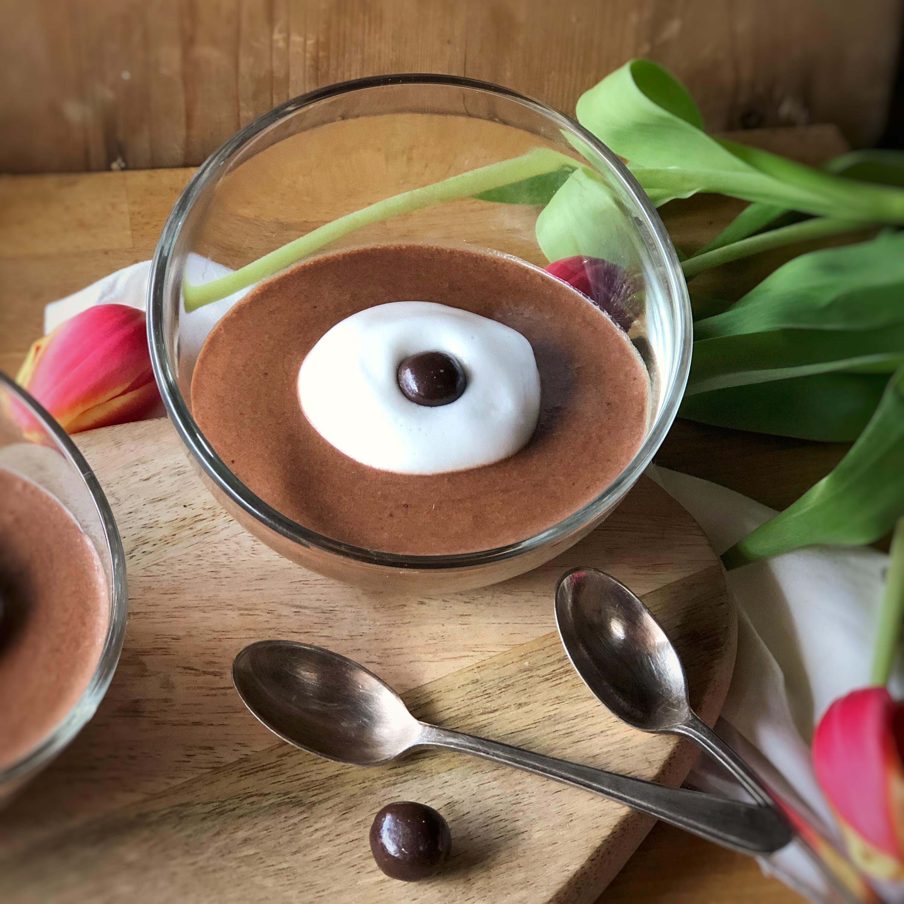 La mousse al cioccolato con aquafaba