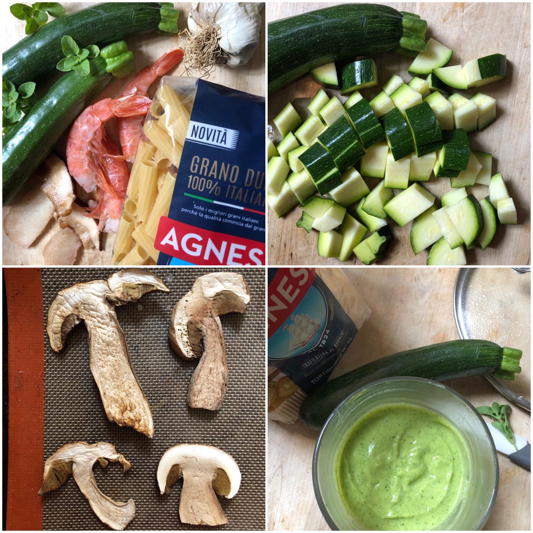 pasta zucchine gamberi