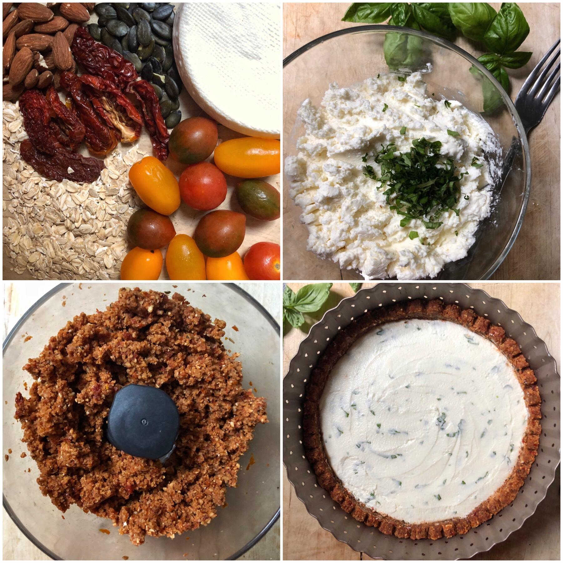 torta salata senza cottura