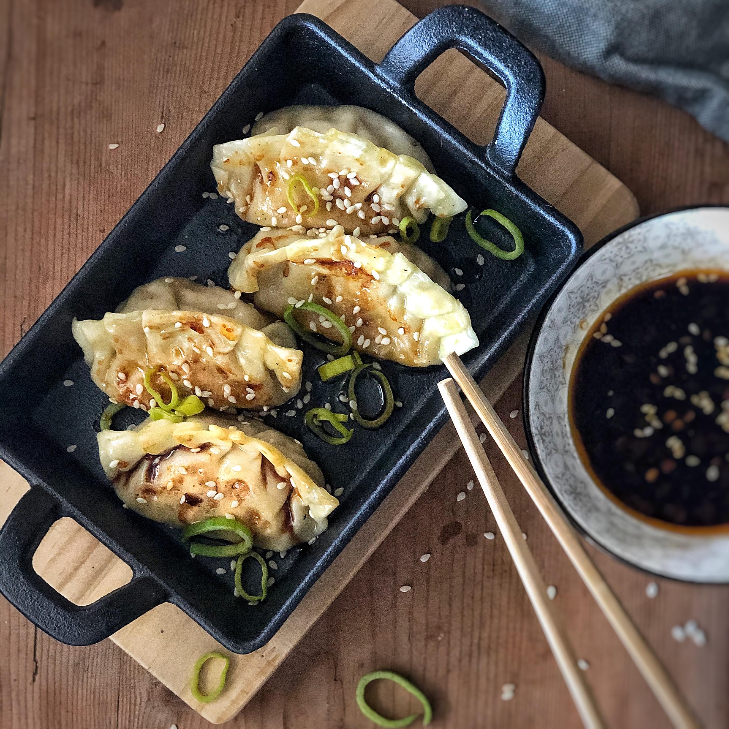 Ravioli alla piastra : Jiaozi la mia ricetta vegetariana