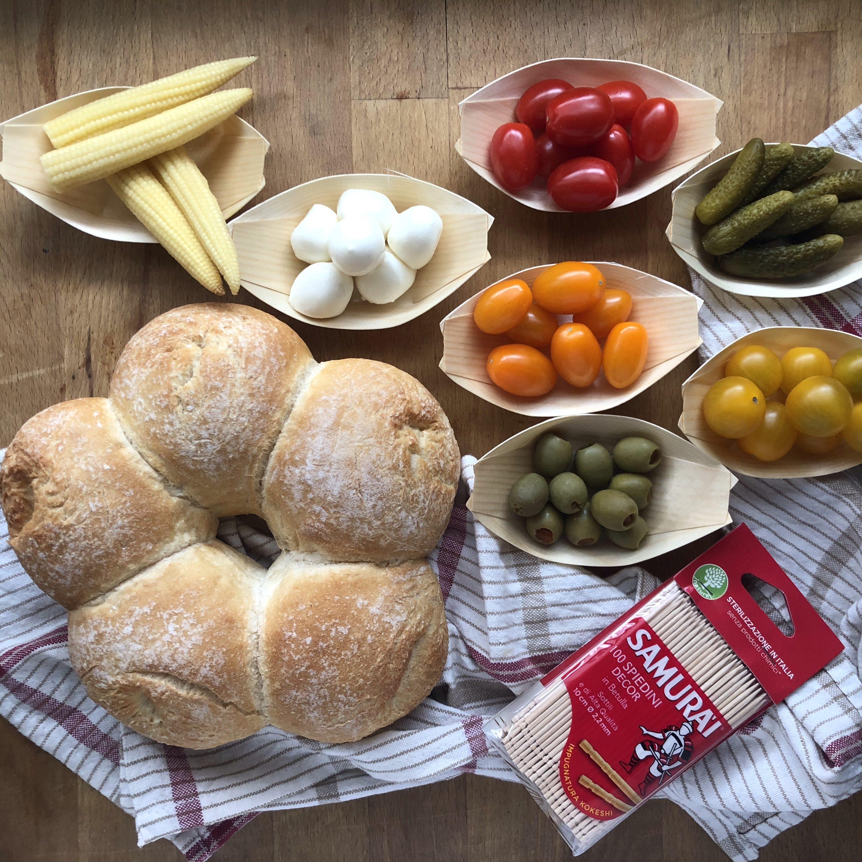 Ghirlanda di pane vegetariana