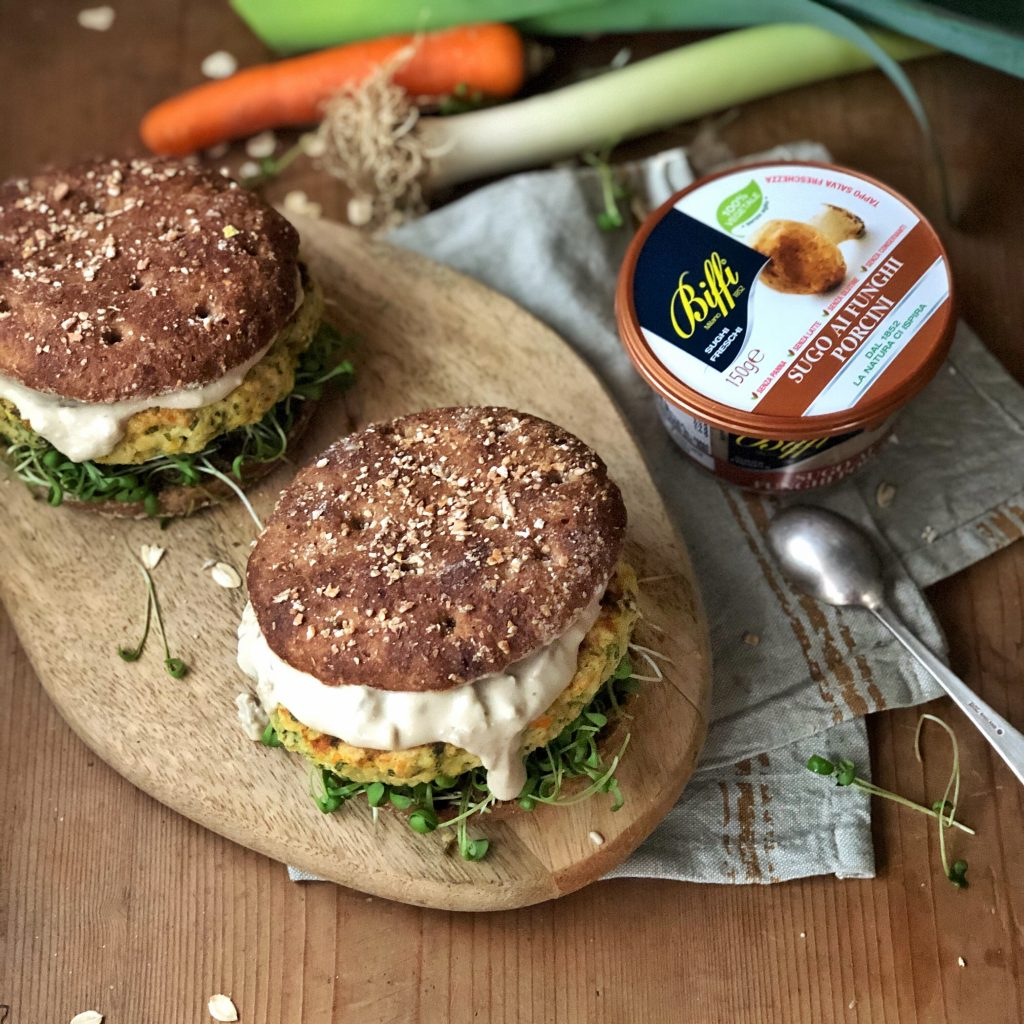 Hamburger vegetariani ai fiocchi di avena