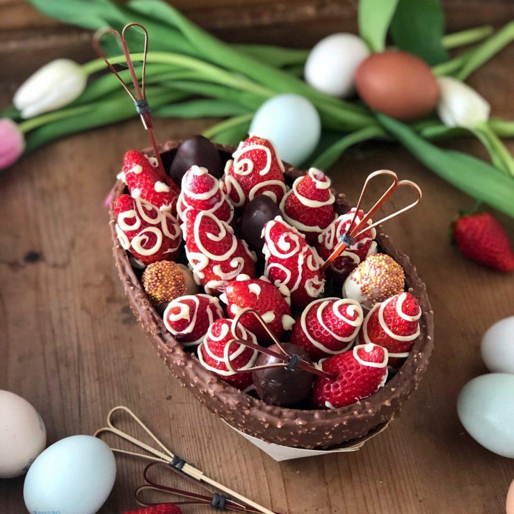 Uovo di Pasqua alle fragole