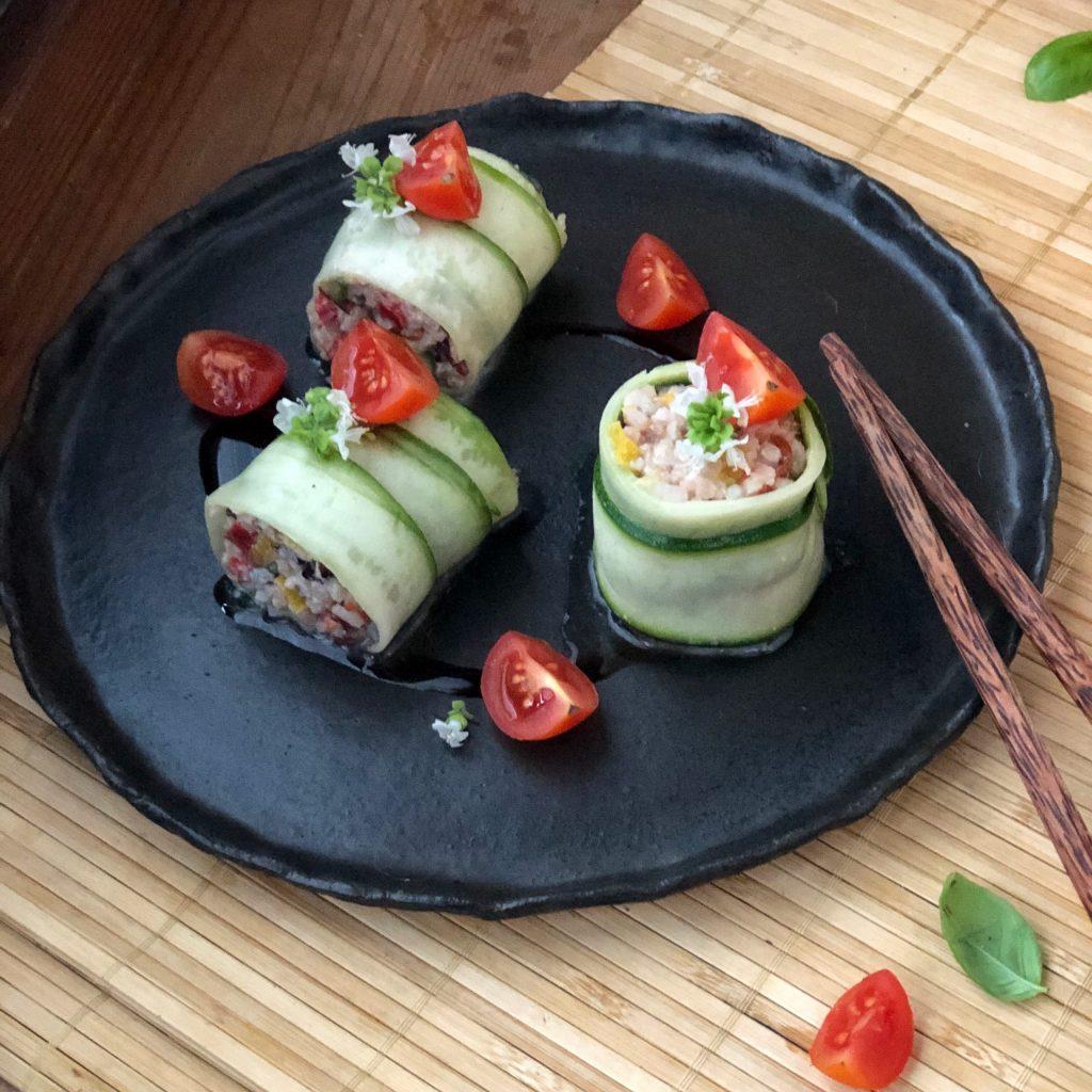 Finto sushi di insalata di riso