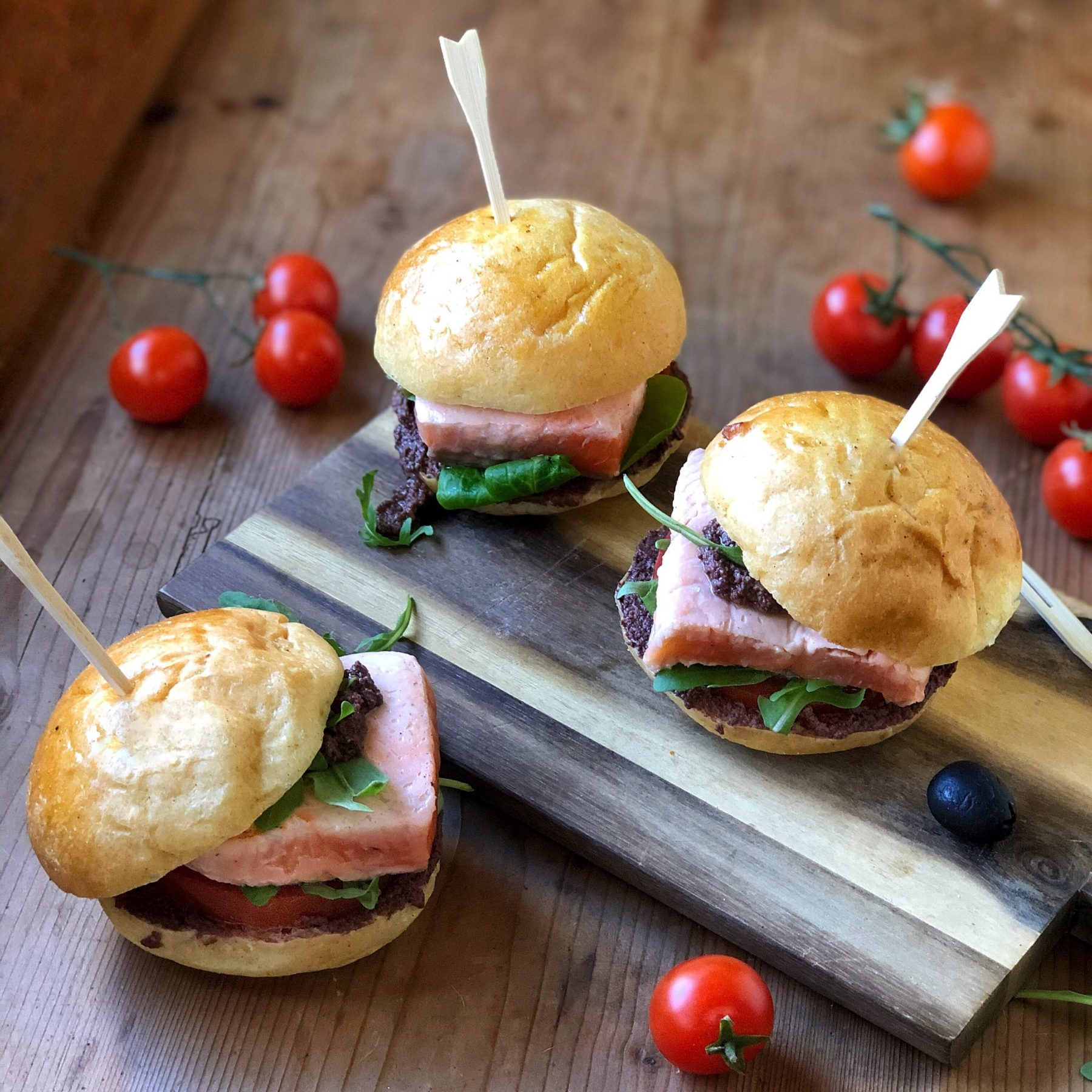 Mini burger al salmone