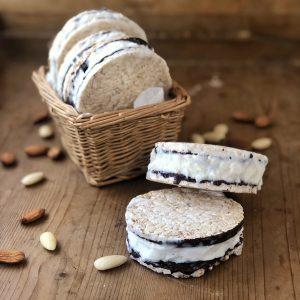 Biscotto gelato vegan alle mandorle
