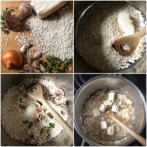 Risotto ai funghi porcini con timo e taleggio