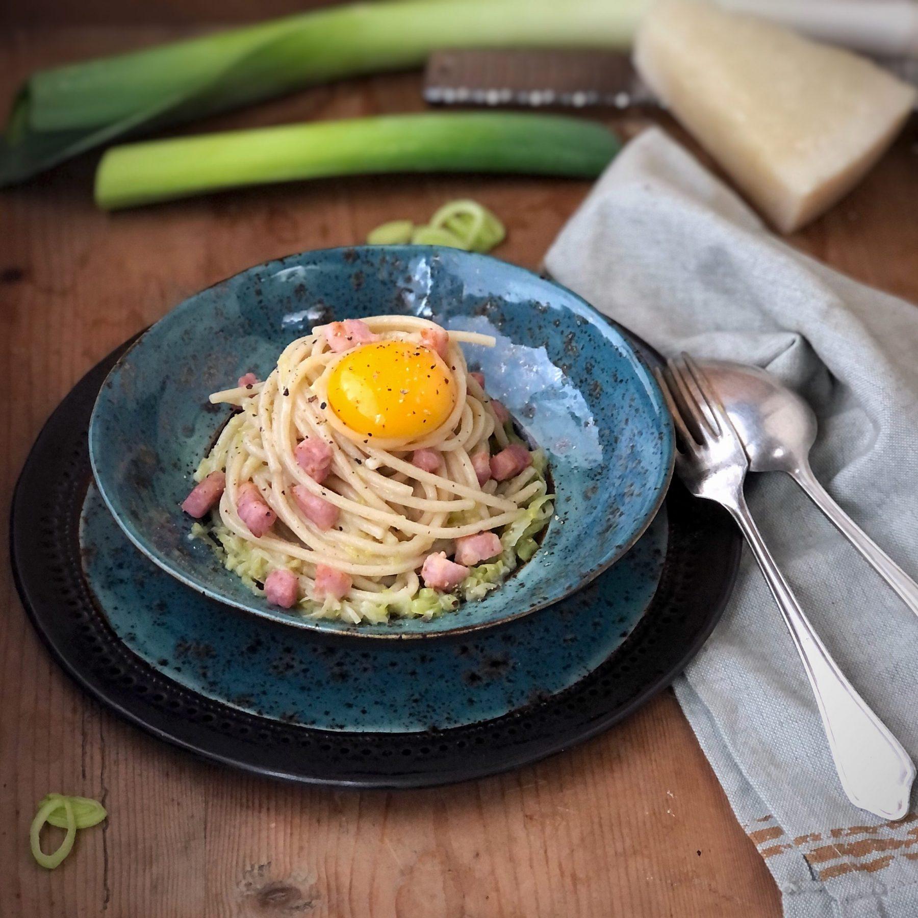 Spaghetti alla carbonara scomposta