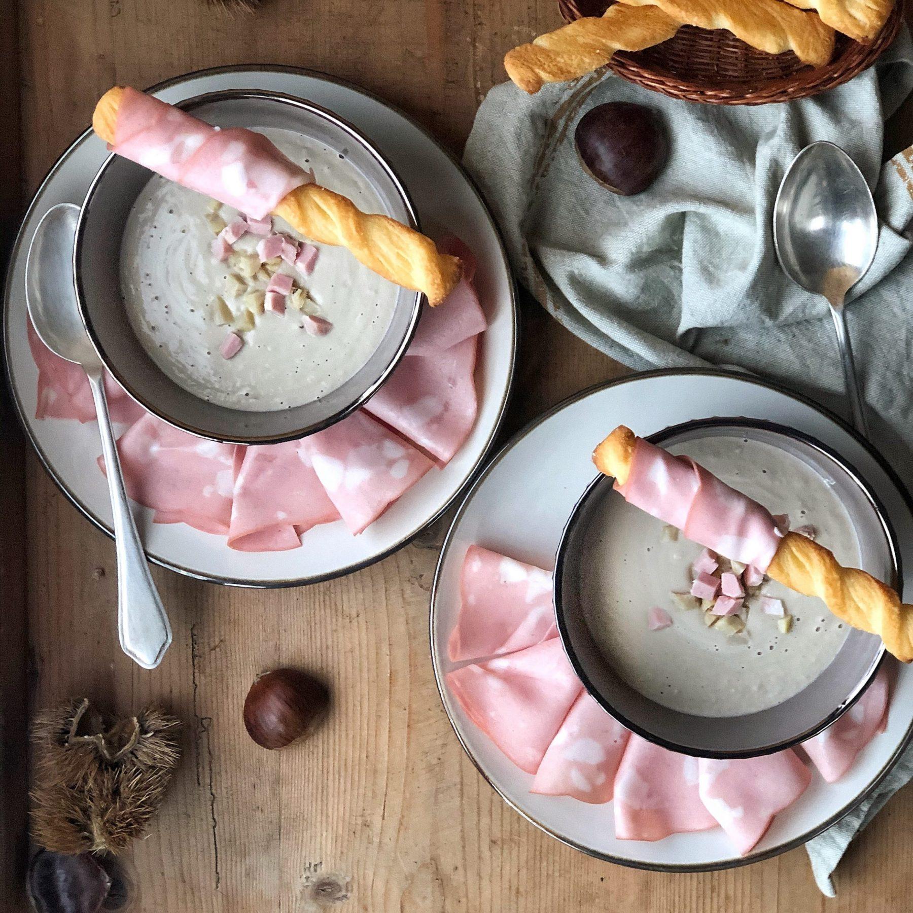 Zuppa di castagne con Mortadella Bologna IGP