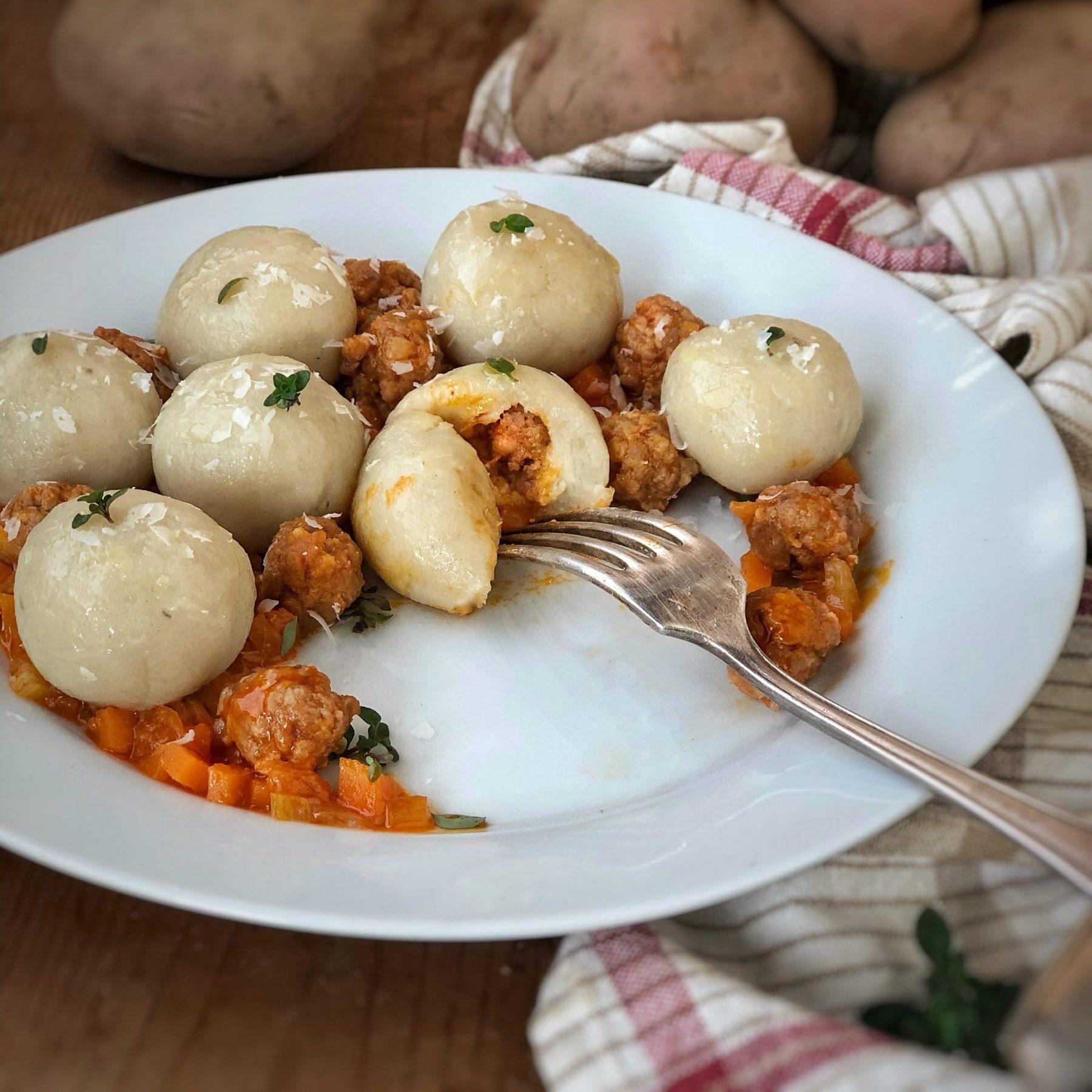Gnocchi di Patata della Sila IGP ripieni di salsiccia
