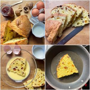 French toast : la ricetta golosa di riciclo per il panettone